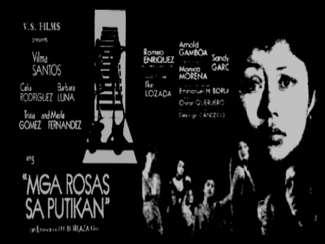 Basic Information: Directed, story, screenplay: Emanuel H. Borlaza; Cast: Vilma Santos, Celia Rodriguez, Babara Luna, Trixia Gomez, Merle Fernandez, ... - films-mga-rosas-sa-putikan1