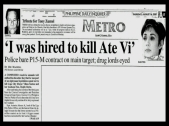MEMORABILIA - News Clippings - Assassinatin plot 2001