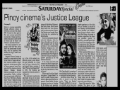 MEMORABILIA - News Clippings - Justice league