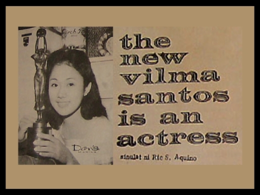 ARTICLES - The New Vilma Santos is an Actress