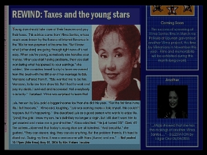 ARTICLES - Rewind - Taxes and the young stars