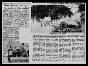NEWS CLIPPINGS - Sampaguita vs LVN