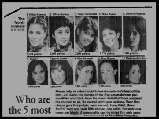NEWS CLIPPINGS - Most Beautiful Faces