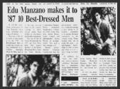 MEMORABILIA - Edu Manzano Best Dressed 1987