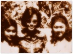 MEMORABILIA - Vi and Nora Aunor with Mercy Lejarde Circa 1970s