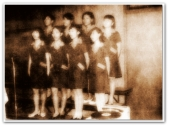 MEMORABILIA - Vi singing in a choir Circa 1970s