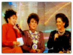 MEMORABILIA - Vilma with Amalia Fuentez and Susan Roces circa 1980s