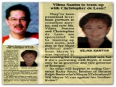 MEMORABILIA - Manila Bulletin 11 Feb 2007 Vi and Boyet