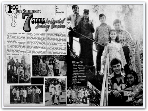 ARTICLES - News clipping TSS Stars of 1970