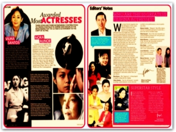 MEMORABILIA - 2004 Inside Showbiz Most Awarded Actresses