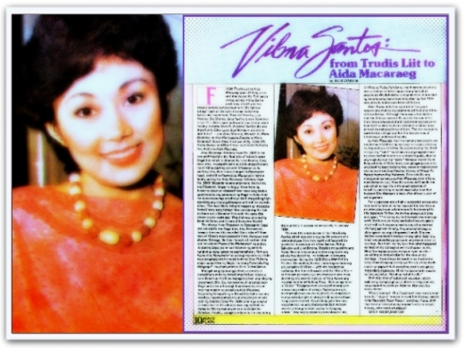 ARTICLES - Vilma Santos-From Trudis Liit to Aida Macaraeg (Movie Flash, Jan 5, 1984)